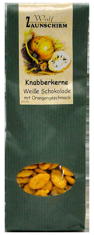 Knabberkerne Weiße Schokolade mit Orangengeschmack